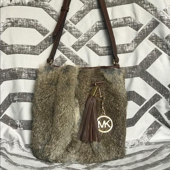 Michael Kors Handbags - Real fur Michael Kors crossbody